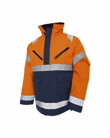 Blaklader 4827 High Vis, Winter Jacket, PU (Orange/Navy Blue)